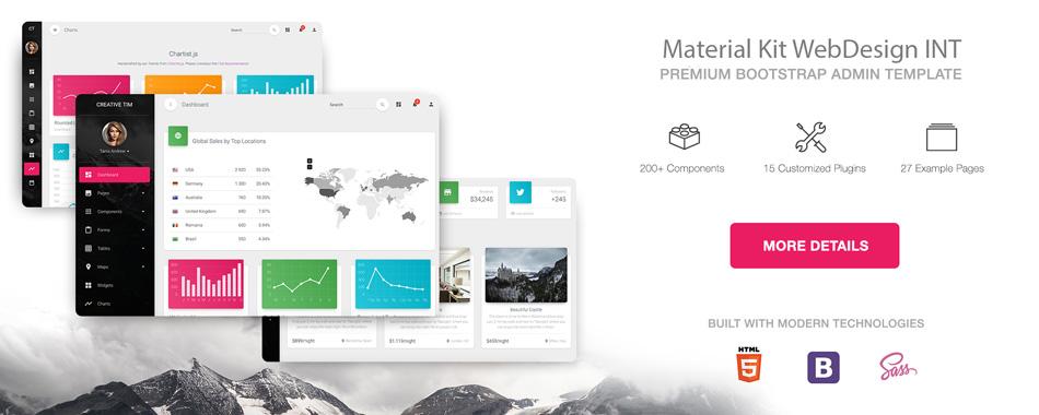 طراحی سایت متریال دیزاین